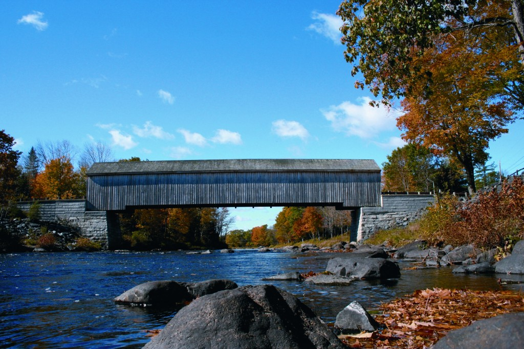 Lowes Covered Bridge in Guilford Maine